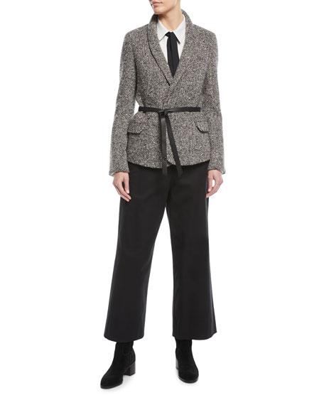 Benton Wide-Leg Tricot Stretch-Cotton Pants
