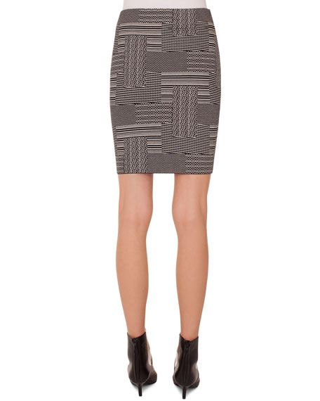 Patchwork Jacquard Wool-Blend Mini Skirt