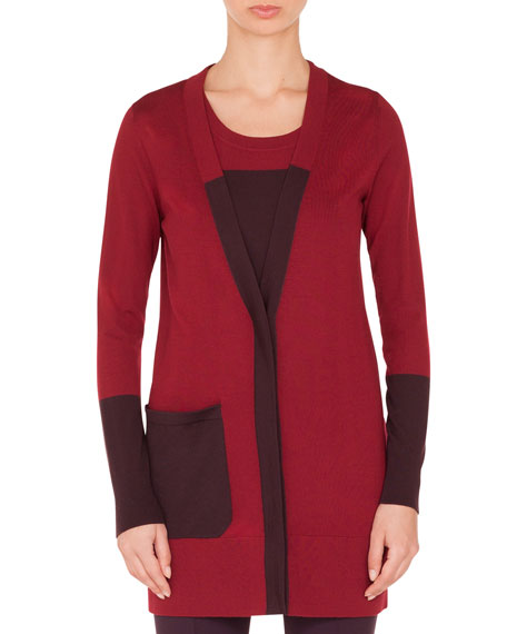 Akris punto Twin-Set Colorblocked Wool Cardigan and Matching