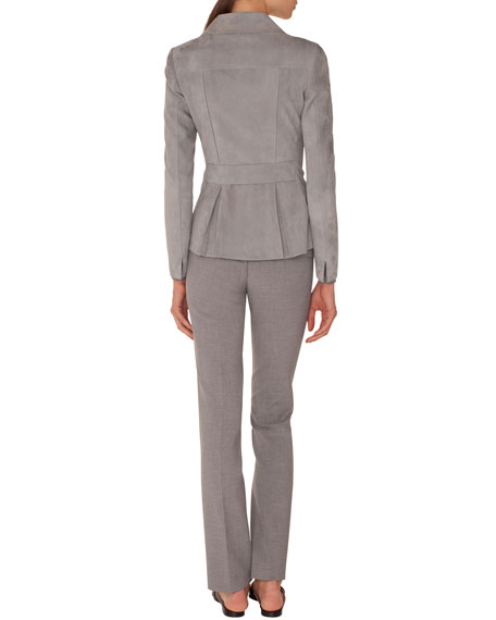 Francoise Straight-Leg Side-Zip Pants