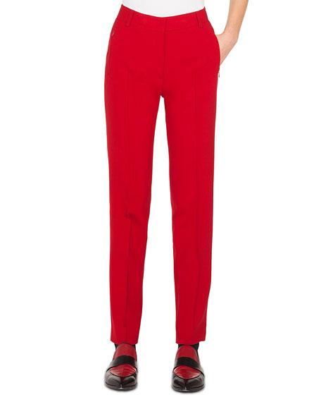 Straight-Leg Jersey Melange Pants