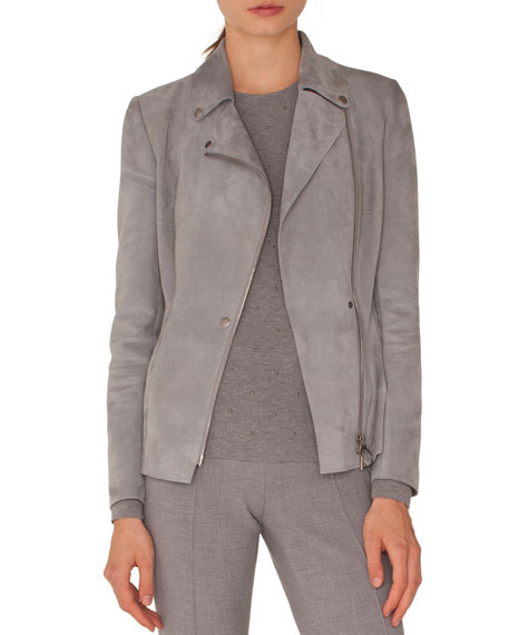 Akris punto Francoise Straight-Leg Side-Zip Pants and Matching