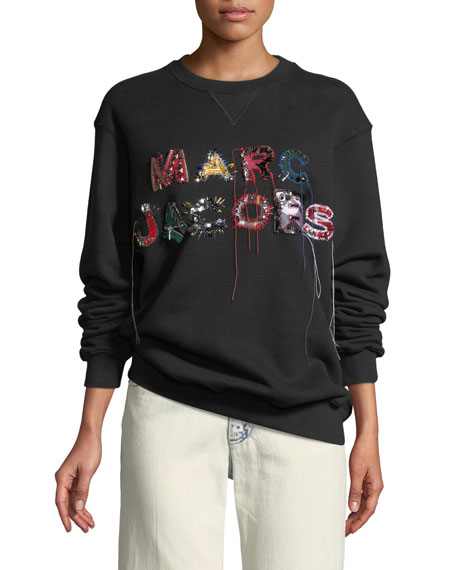 Marc Jacobs Embellished Logo Crewneck Sweatshirt