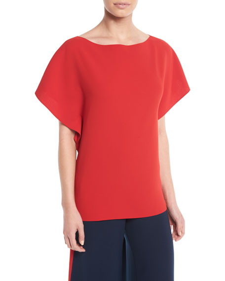 Corinna Round-Neck Short-Sleeve Top