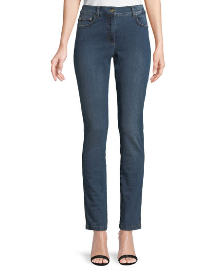 Five Pocket Narrow Straight Leg Jeans by Escada