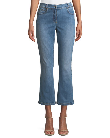 Escada Flared-Leg Crop Jeans