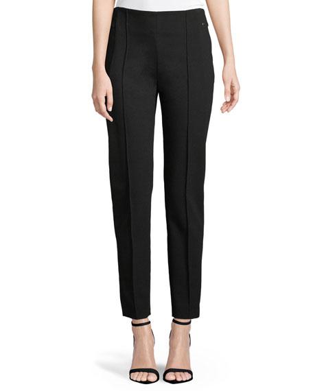 Hepburn Straight-Leg Ankle Jersey Pants