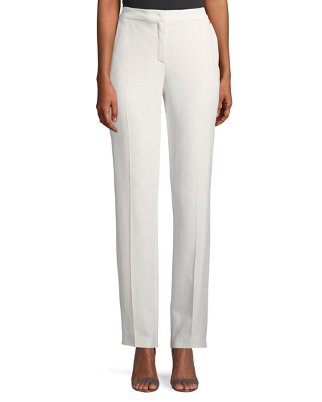 Escada Turanu Straight-Leg Crepe Pants