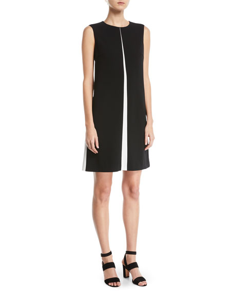 Escada Sleeveless A-Line Chemise Dress w/ Insets