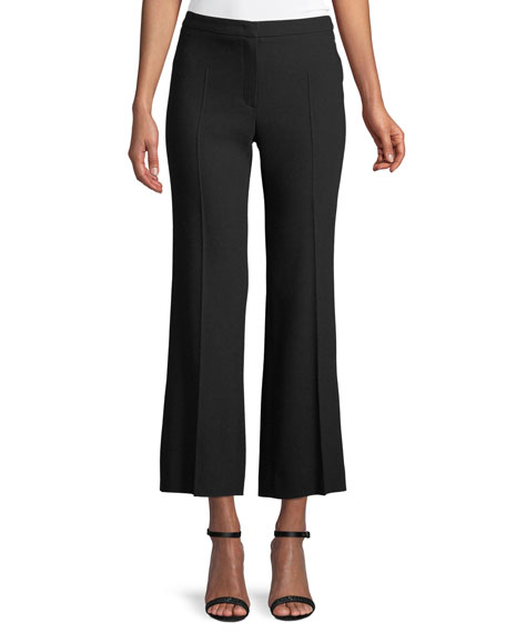 Escada Tylani Cropped Flared-Leg Wool Pants