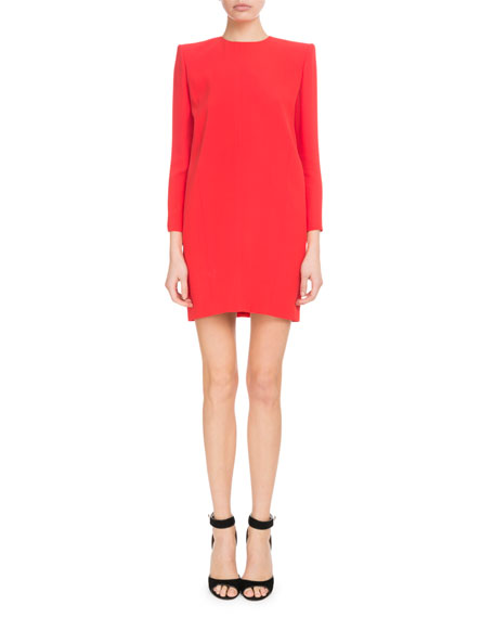 Givenchy Long-Sleeve Crepe Satin Cocktail Dress