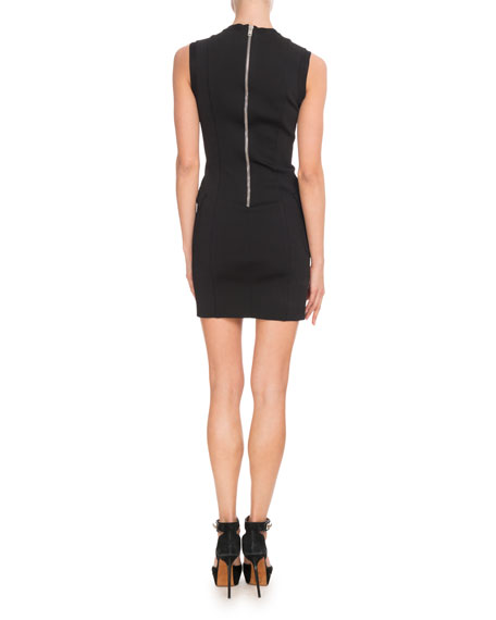 Sleeveless Bi-Color Punto Milano Knit Dress