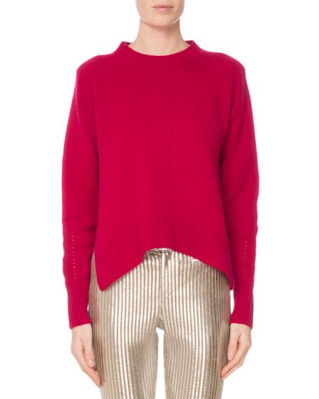 Isabel Marant Crewneck Long-Sleeve Pure Cashmere Sweater w/