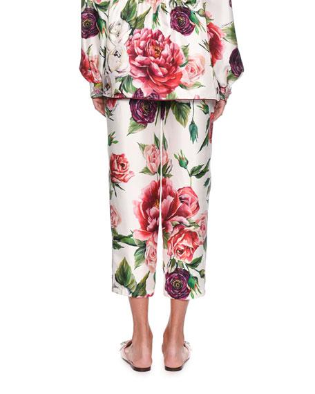 Rose Peony Pajama Silk Pants