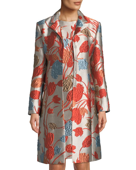 Etro Cloqu?? Coat w/ Frog Closure and Matching