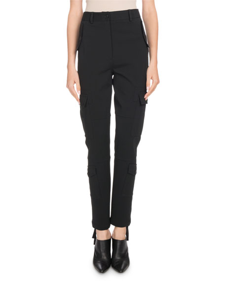 Altuzarra Lyn High-Rise Straight-Leg Cargo Pants