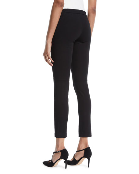Stretch-Cotton Cropped Leggings