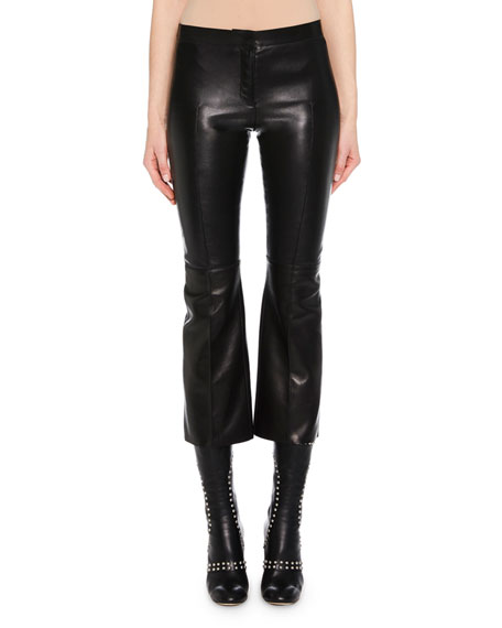 Kickback Stretch-Leather Cropped Pants