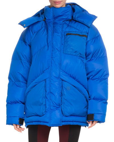 Oversized Hooded Quilted Puffer Jacket