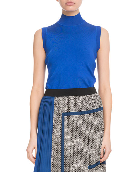 Givenchy Sleeveless Turtleneck Viscose Knit Top and Matching