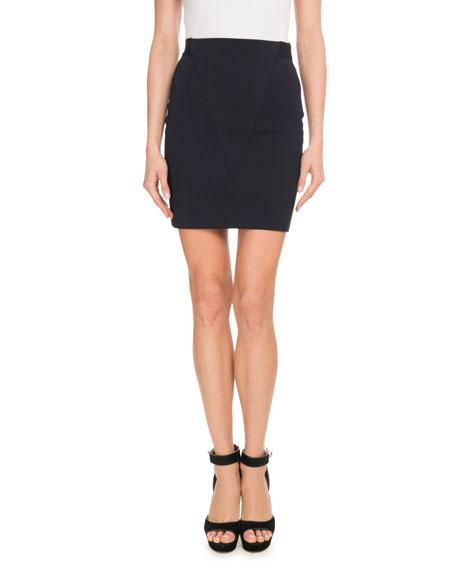 Heavy-Knit Side-Zip Mini Skirt