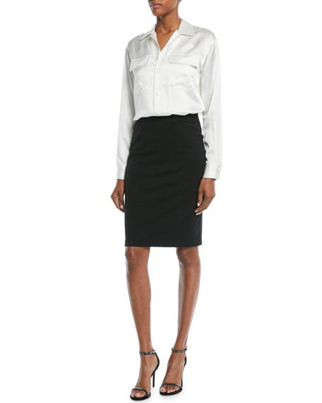 Milano Jersey Knee-Length Pencil Skirt