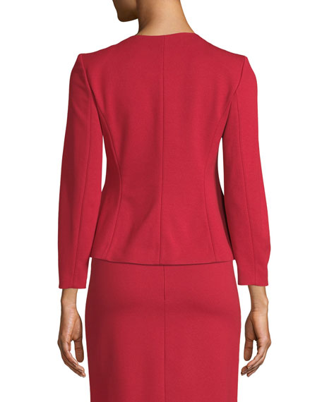 Kate Sunburst Zip-Front Jersey Jacket