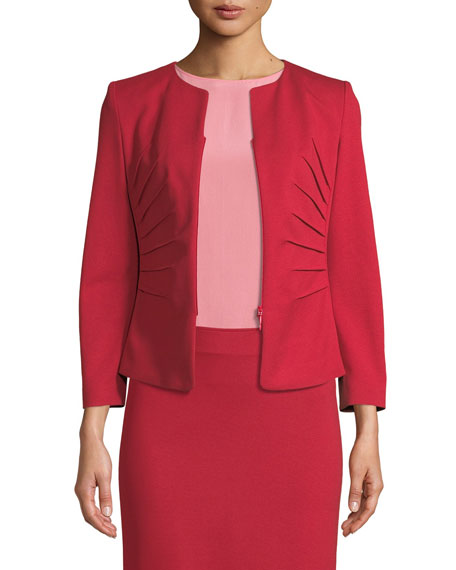 Kate Sunburst Zip-Front Jersey Jacket