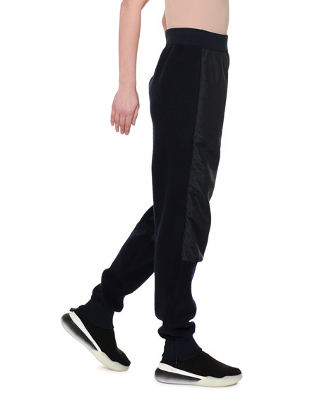 Wool-Back Nylon-Front Jogger Pants