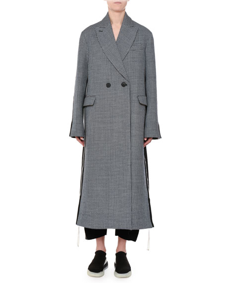 Stella McCartney Racer-Side Check-Front Oversized Coat and
