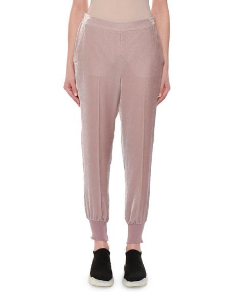 Velvet Pull-On Jogger Pants
