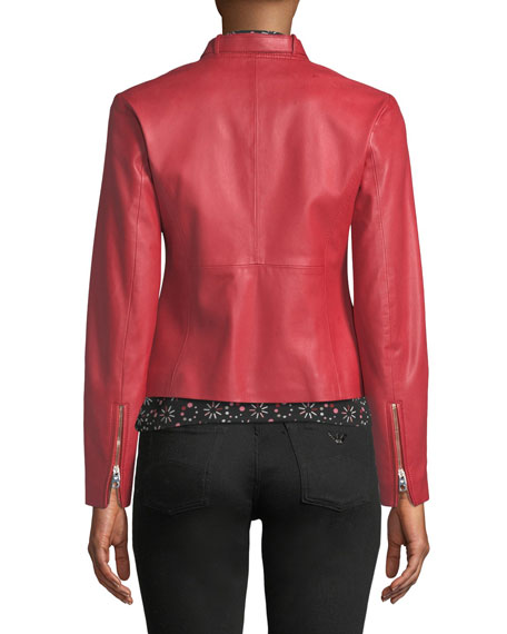 Rosso Zip-Front Leather Jacket