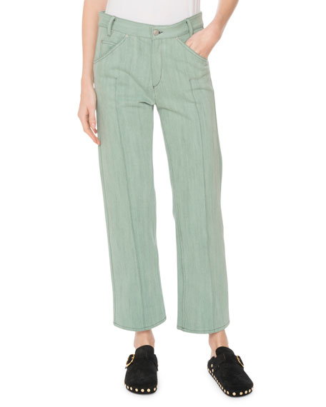 Golky Mid-Rise Wide-Leg Cropped Jeans