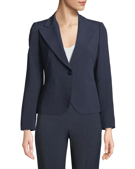 One-Button Classic Mélange Jacket