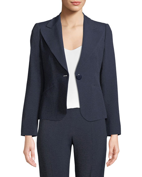 Emporio Armani One-Button Classic Mélange Jacket and