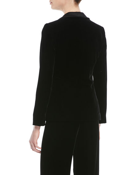 One-Button Classic Velvet Tuxedo Jacket