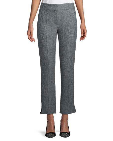 Emporio Armani Boucle Tweed Straight-Leg Pants