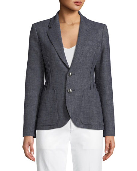Two-Button Classic Jacket w/ Dart Seams