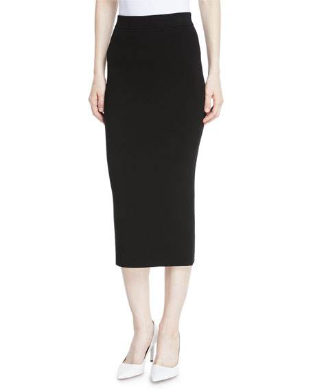 Michael Kors Collection Long Ribbed Cashmere Midi Pencil