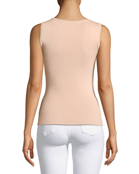 Scoop-Neck Merino/Silk/Cashmere Shell