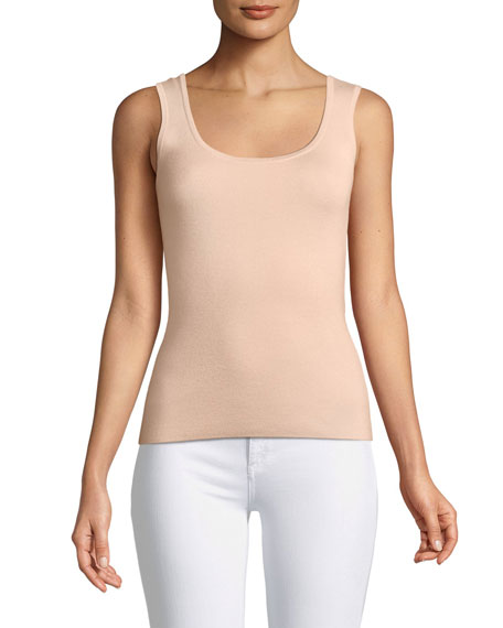 Michael Kors Collection Scoop-Neck Merino/Silk/Cashmere Shell