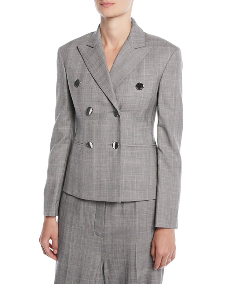 CALVIN KLEIN 205W39NYC Double-Breasted Fitted Wool Blazer