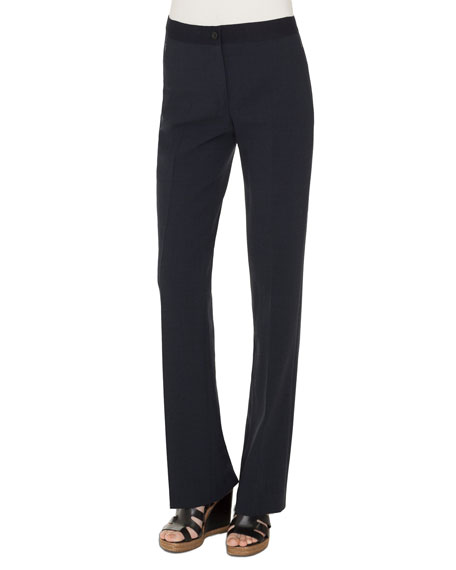 Akris Fe Double-Face Wool Straight-Leg Pants