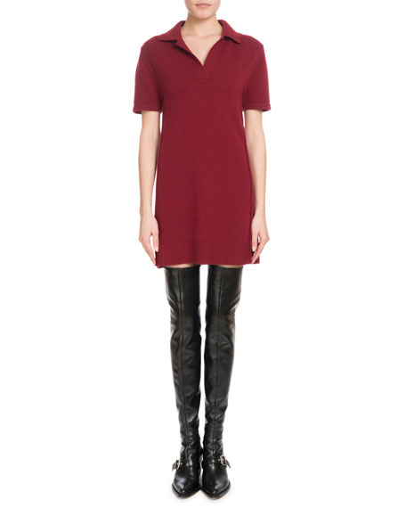 Iconic Cashmere Short-Sleeve Polo Dress