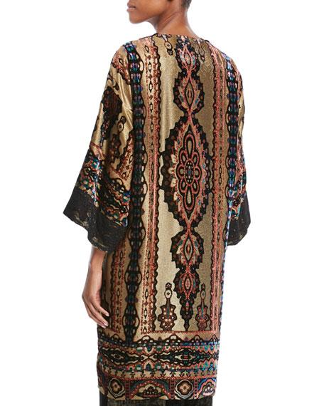 Velvet Lace-Trim Knit Topper