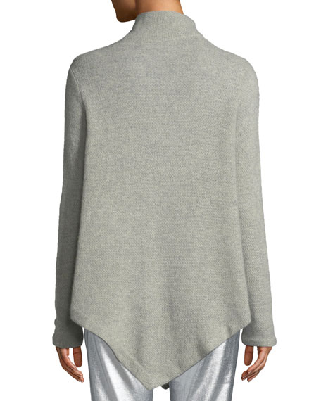 Long-Sleeve Turtleneck Cashmere Poncho