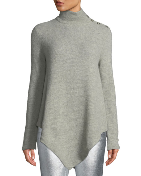 Ralph Lauren Collection Long-Sleeve Turtleneck Cashmere Poncho