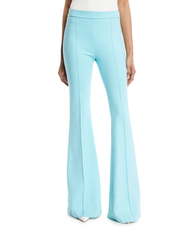 Rosetta Getty Pintuck Skinny Flared-Leg Interlock Jersey Pants ... 5024f19c5