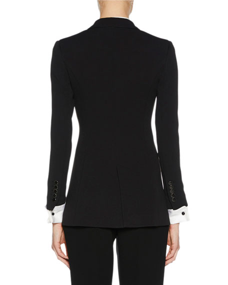 Notched-Collar One-Button Jacket