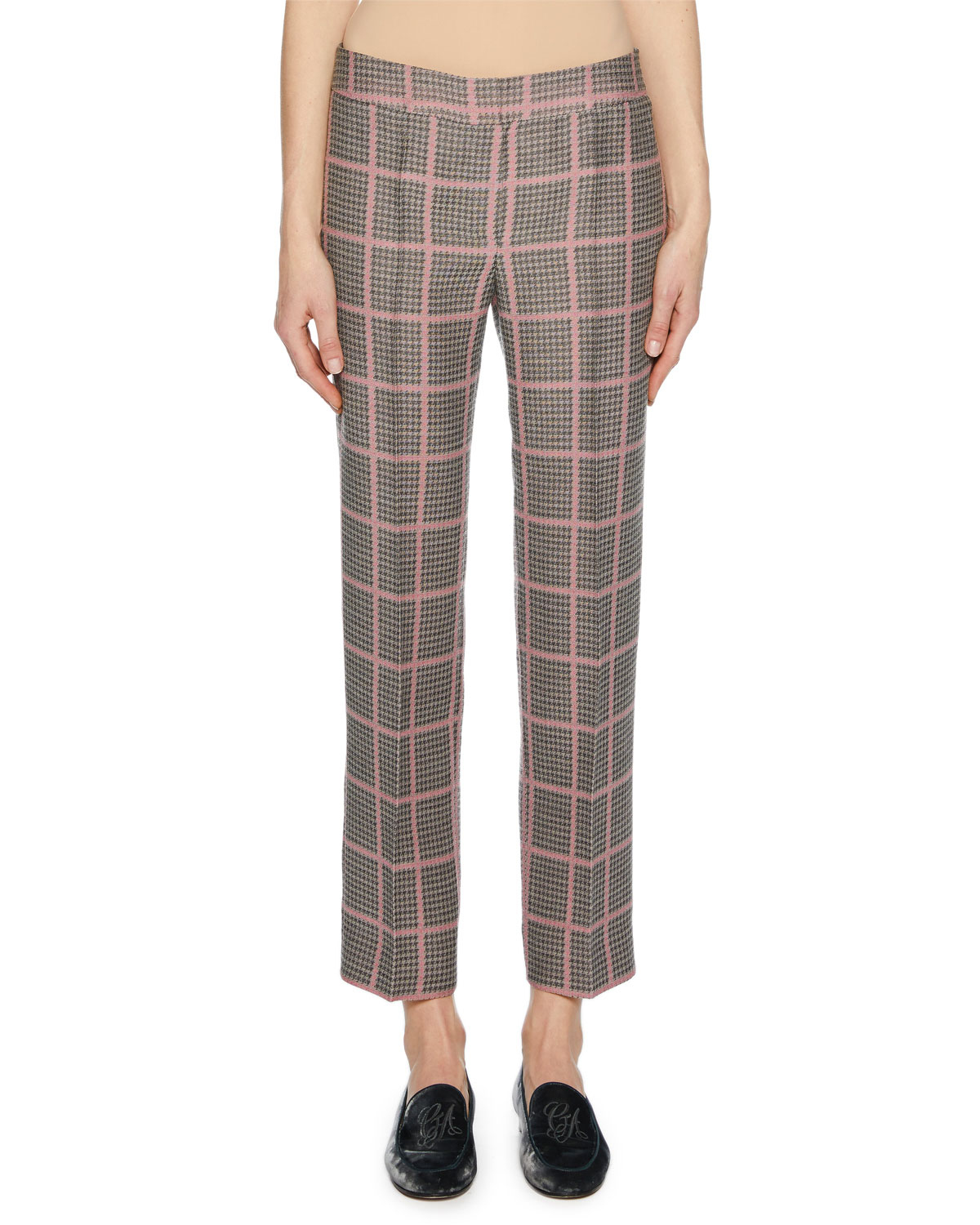Texas Tech Classic Elegance Ladies Ring: Giorgio Armani Straight-Leg Plaid Crop Pants